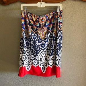 NWT Melissa Paige Sz L Elastic Waist Skirt